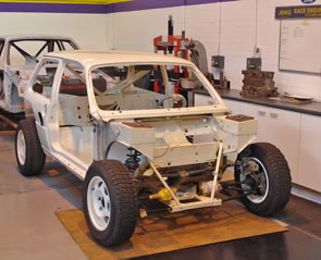 Metro 6R4 shell ready for car rebuild