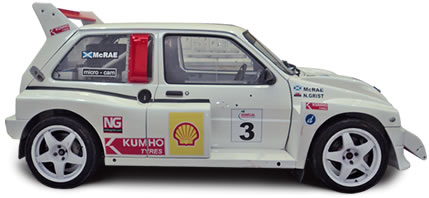Colin McRae's Metro 6R4 at JEMS Race Engineering
