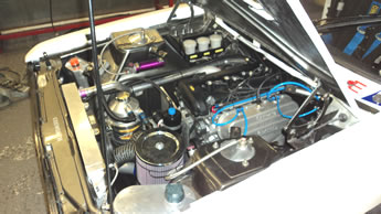 Supercharged Duratec engine in a Mk2 Escort