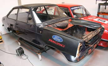 Ford Escort shell stripped and ready for conversion