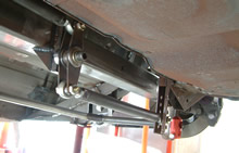 Custom designed rear suspension