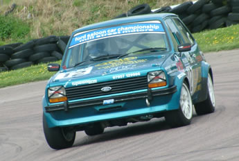 Ford Fiesta driven in the Ford Saloon Car Championship