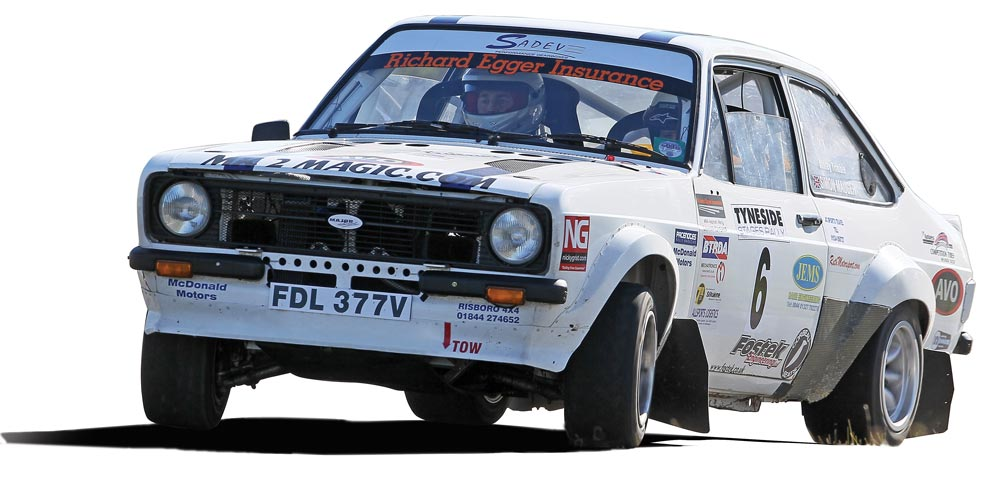Simon Mauger Escort Rally Car
